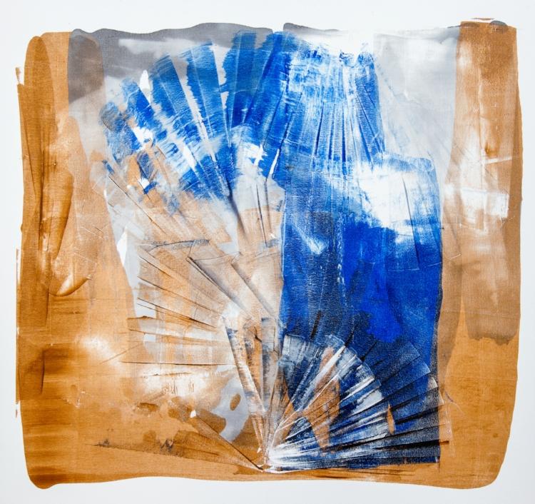 Patrícia Melro utilizou a técnica úmido sobre úmido nas obras dessa exposição